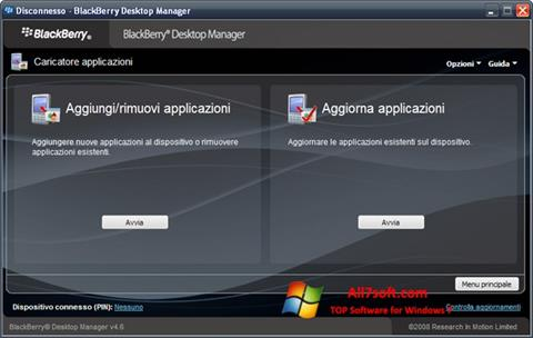 Screenshot BlackBerry Desktop Manager for Windows 7