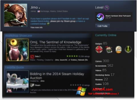 Screenshot Steam for Windows 7