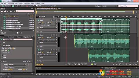 Screenshot Adobe Audition CC for Windows 7