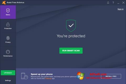 Screenshot Avast Free Antivirus for Windows 7