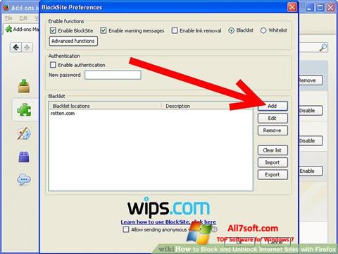 Screenshot uBlock for Windows 7