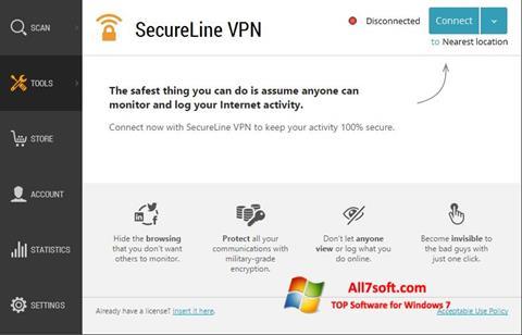 Screenshot Avast SecureLine VPN for Windows 7