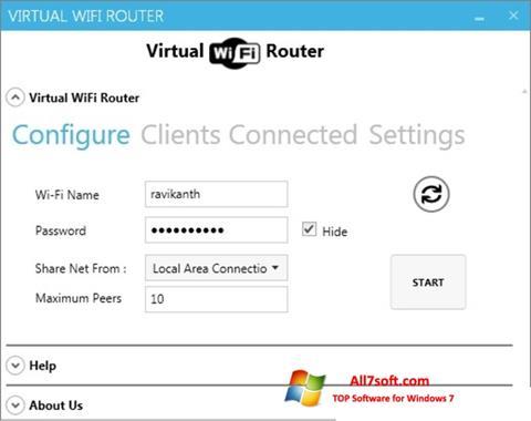 Screenshot Virtual WiFi Router for Windows 7