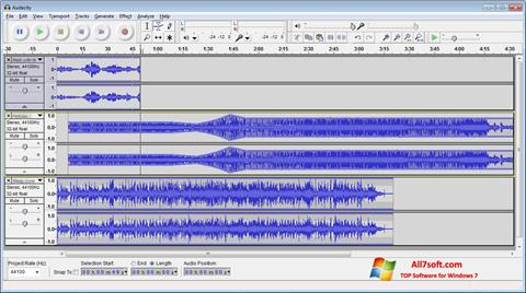 Screenshot Audacity for Windows 7