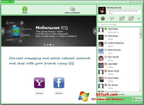Screenshot ICQ for Windows 7