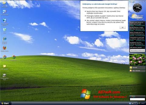 Screenshot Google Desktop for Windows 7