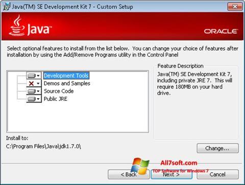 Screenshot Java Development Kit for Windows 7