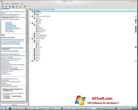 Screenshot Mumble for Windows 7