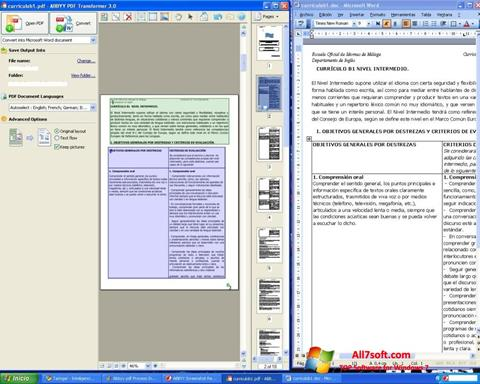 Screenshot ABBYY PDF Transformer for Windows 7