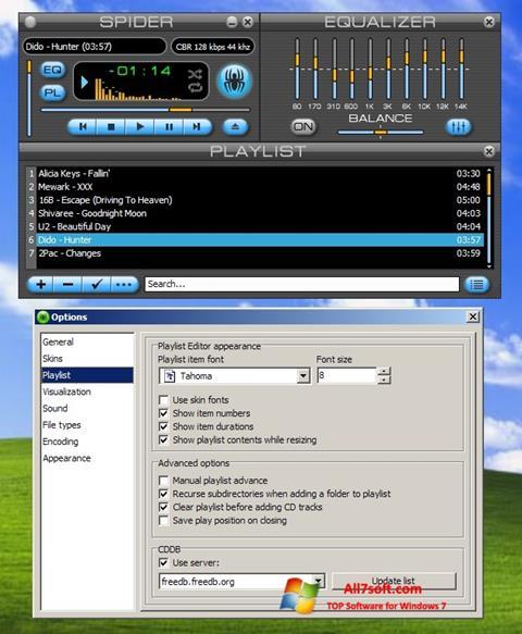 Screenshot Spider Player for Windows 7