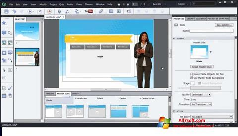 Screenshot Adobe Captivate for Windows 7