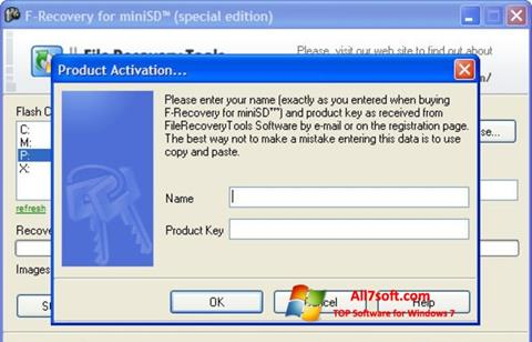 Screenshot F-Recovery SD for Windows 7