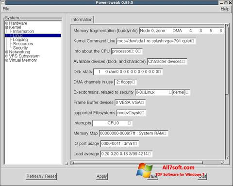 Screenshot PowerTweak for Windows 7