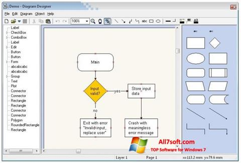 Screenshot Diagram Designer for Windows 7