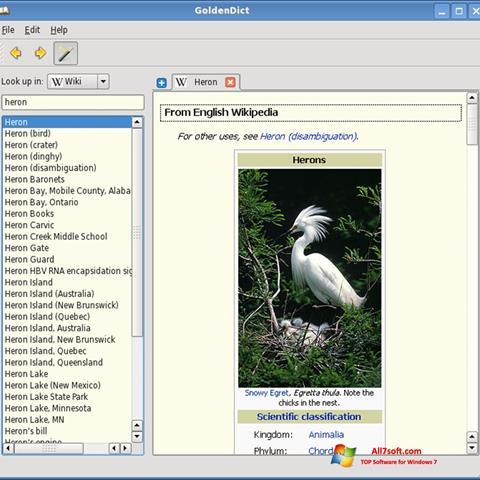 Screenshot GoldenDict for Windows 7