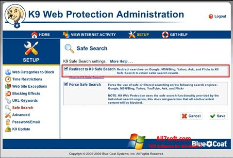 Screenshot K9 Web Protection for Windows 7