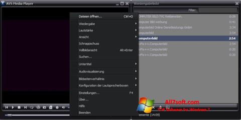 Screenshot AVS Media Player for Windows 7