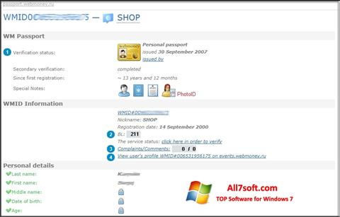 Screenshot WebMoney Keeper Classic for Windows 7