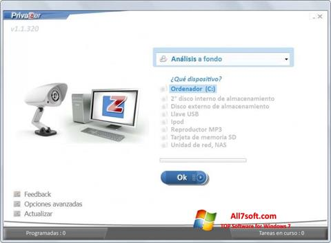 Screenshot PrivaZer for Windows 7