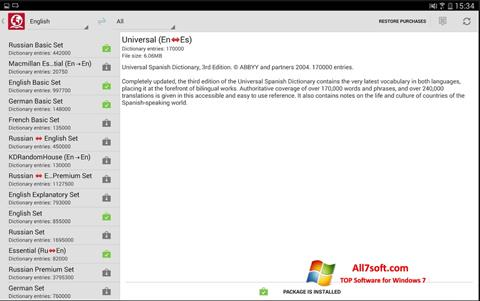 Screenshot ABBYY Lingvo for Windows 7