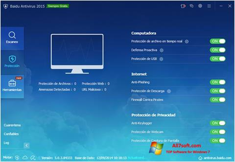 Screenshot Baidu Antivirus for Windows 7