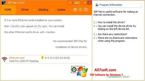 Screenshot 3DP Net for Windows 7