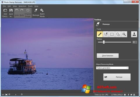 Screenshot Photo Stamp Remover for Windows 7