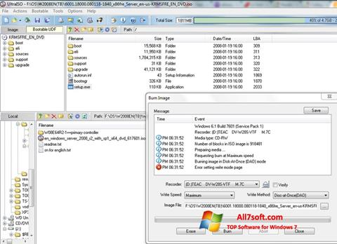 Screenshot UltraISO for Windows 7