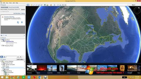 Screenshot Google Earth for Windows 7