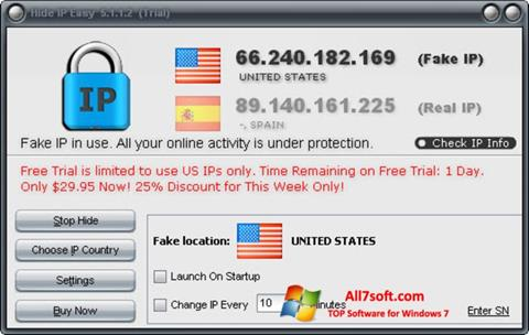 Screenshot Hide IP Easy for Windows 7