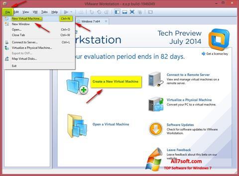 Screenshot VMware Workstation for Windows 7