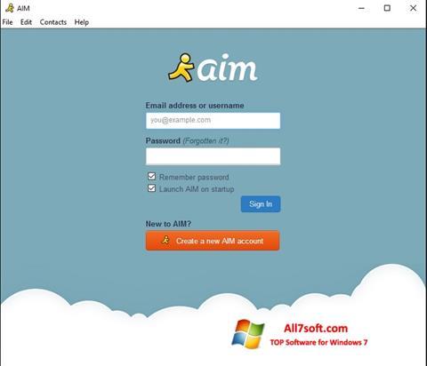 Screenshot AOL Instant Messenger for Windows 7