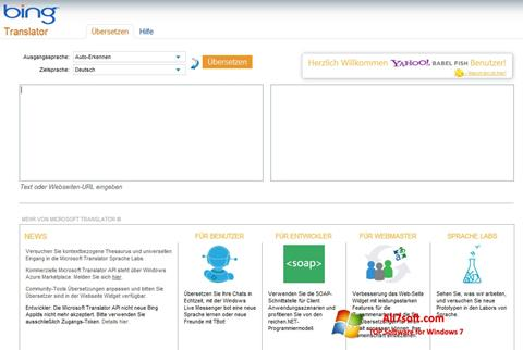 Screenshot Bing Translator for Windows 7