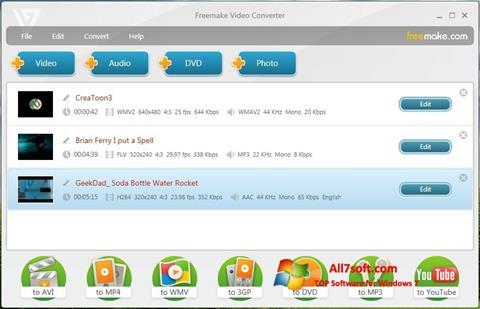 Screenshot Freemake Video Converter for Windows 7