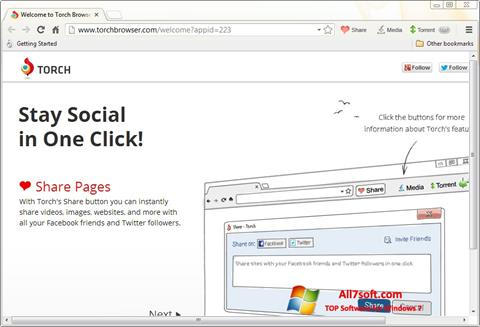Screenshot Torch Browser for Windows 7