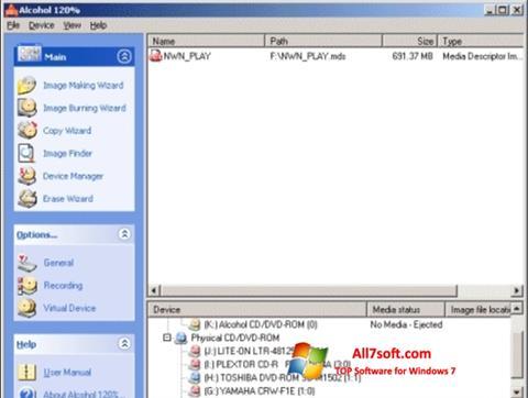 Screenshot Alcohol 120% for Windows 7