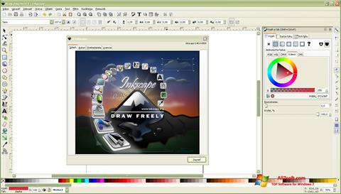 Screenshot Inkscape for Windows 7