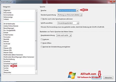 Screenshot Adobe Reader for Windows 7