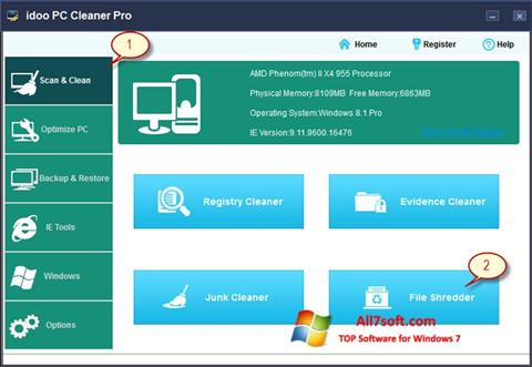Screenshot PC Cleaner for Windows 7