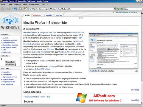 Screenshot Mozilla Firefox for Windows 7