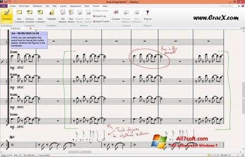 Screenshot Sibelius for Windows 7