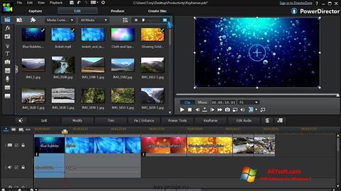 Screenshot CyberLink PowerDirector for Windows 7