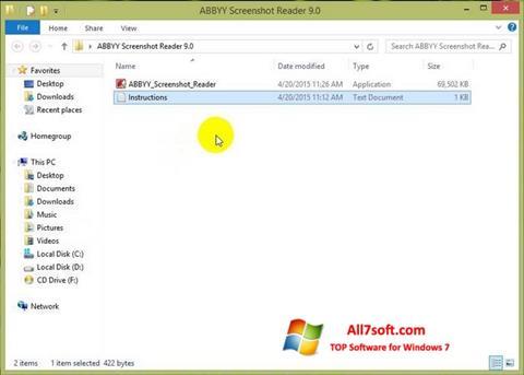 Screenshot ABBYY Screenshot Reader for Windows 7