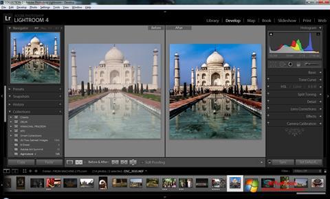 Screenshot Adobe Photoshop Lightroom for Windows 7