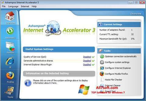 Screenshot Ashampoo Internet Accelerator for Windows 7