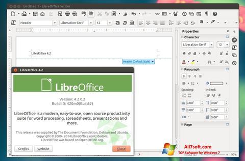 Screenshot LibreOffice for Windows 7