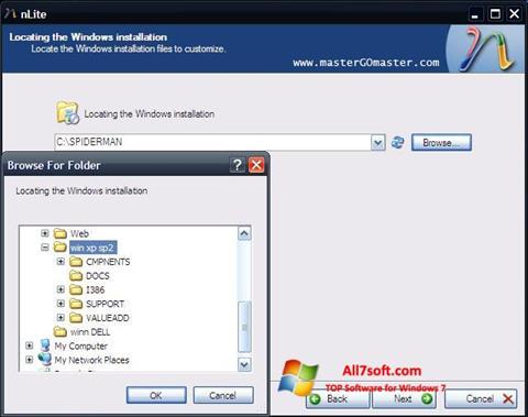 Screenshot nLite for Windows 7