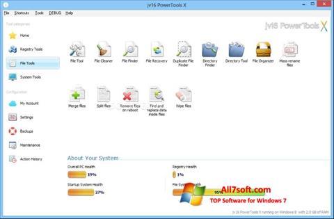 Screenshot jv16 PowerTools for Windows 7