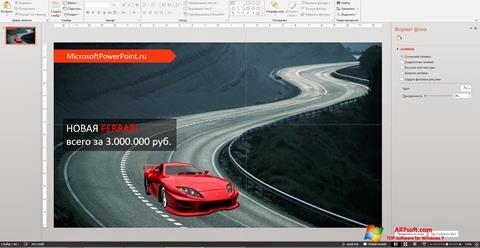 Screenshot Microsoft PowerPoint for Windows 7