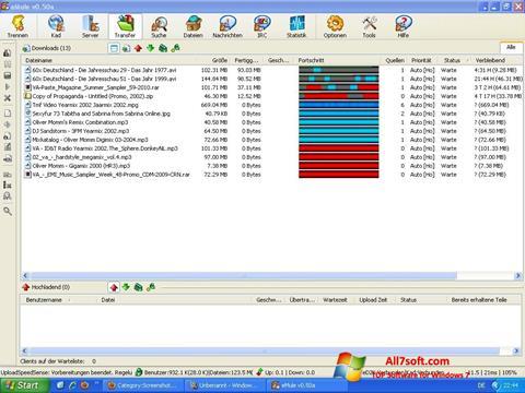 Screenshot eMule for Windows 7